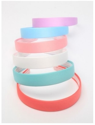 Picture of £1.00 SATIN ALICE BANDS PASTEL (6)