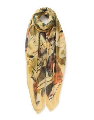 Picture of £7.99 LOTUS POND PRINT SCARVES 3 ASST(3)