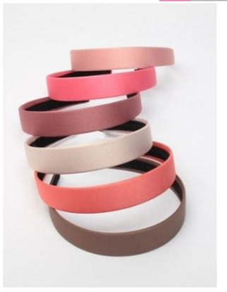Picture of £1.00 SATIN ALICE BANDS NATURAL