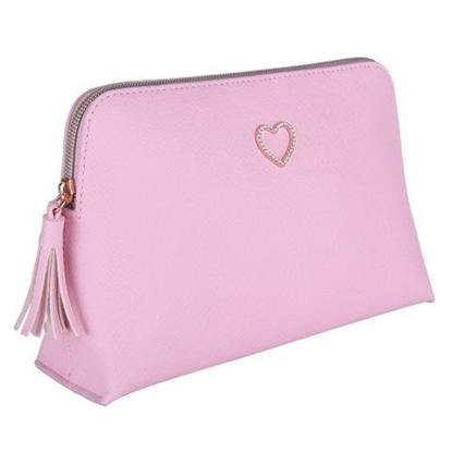 Picture of £11.99 COSMETIC BAG HEART PINK (2)