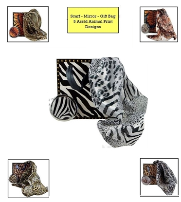 Picture of £7.99 SCARF-MIRROR-GIFT BAG SET (5)