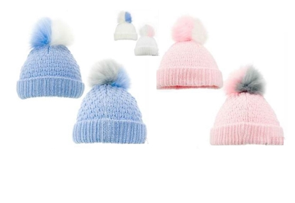 Picture of £3.99 BABY POM POM HATS ASST 12-24M (12)