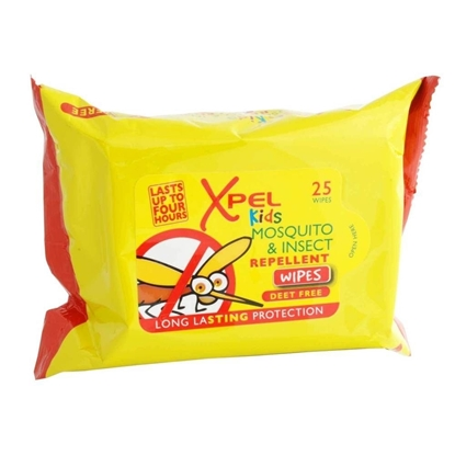 Picture of £1.00 XPEL MOSQUITO KIDS WIPES 25's (24)