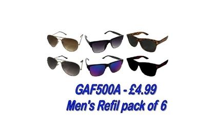 Picture of £4.99 MENS LOVE2 SUNGLASS REFIL (6)
