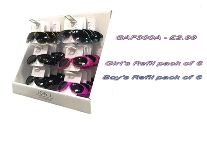 Picture of £2.99 KIDS LOVE2 SUNGLASS REFIL (6)