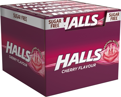 Picture of £0.69 HALLS CHERRY S.FREE 33.5g (20)