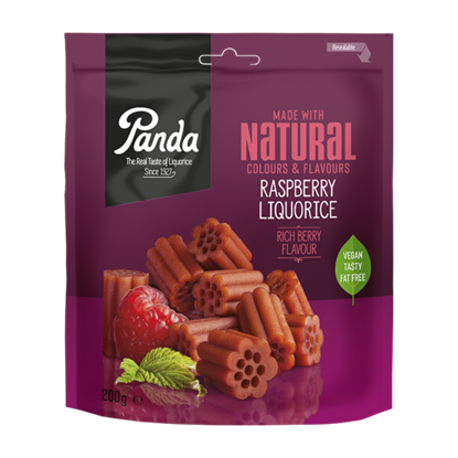 Picture of £2.39 PANDA RASPBERRY LIQUORICE 200g (12