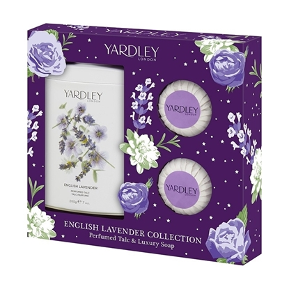 Picture of £5.99 YARDLEY LAVENDER TALC SOAP SET (3)