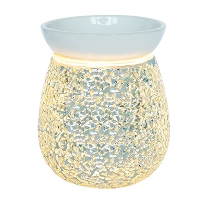 Picture of £12.99 MOSAIC ELECTRIC WAX MELTER SILVER