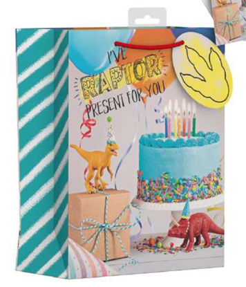 Picture of £1.29 DINOSAUR GIFT BAG LARGE (12)
