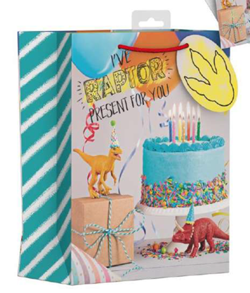 Picture of £1.49 DINOSAUR GIFT BAG X-LGE (12)