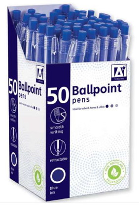 Picture of £0.10 BALL POINT PENS BLUE (50)