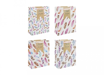 Picture of £0.79 GIFT BAG FEATHERS DESIGN SMALL(12)
