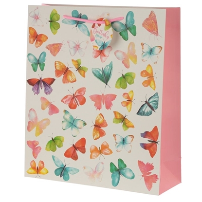 Picture of £1.29 GIFT BAGS BUTTERFLY X-LARGE
