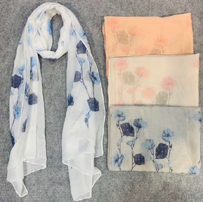 Picture of £6.99 ORCHARD SCARVES 4 ASST (12)