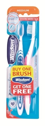 Picture of £1.00 WISDOM TWIN TOOTHBRUSHES MED
