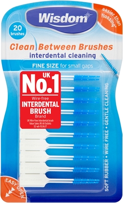 Picture of £2.49 WISDOM INTERDENT BRUSHES BLUE (12)