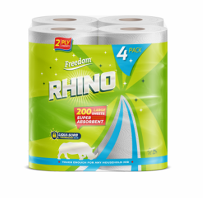 Picture of £1.25 RHINO 4 PACK 2 PLY KITCHEN ROLLS