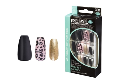 Picture of £2.99 ROYAL ROCK IT COFFIN NAILS (6)