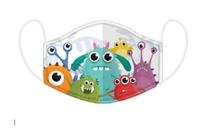 Picture of £2.49 FACE MASKS RE-USE KIDS MONSTER