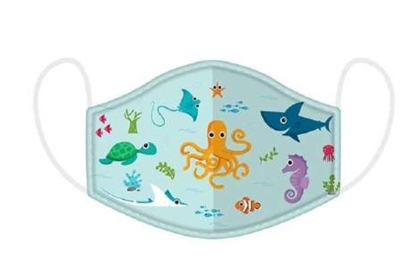 Picture of £2.49 FACE MASKS RE-USE KIDS SEALIFE