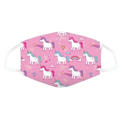 Picture of £2.49 FACE MASKS RE-USE KIDS UNICORN (10