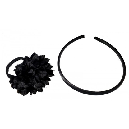 Picture of £1.00 ALICE BAND & FLOWER SET BLACK