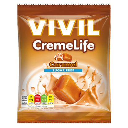 Picture of £1.50 VIVIL SUGAR FREE CARAMEL SWEETS(12
