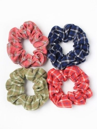 Picture of £1.49 MOLLY ROSE CHECK SCRUNCHIES