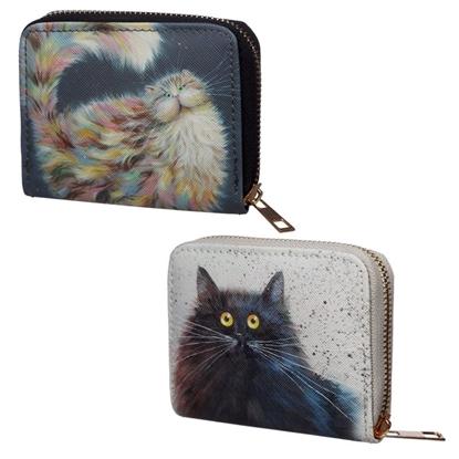 Picture of £3.99 CAT ZIP WALLET PURSES (12)