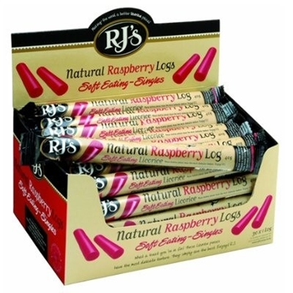 Picture of £0.85 RJS LIQUORICE LOGS RASPBERRY (24)