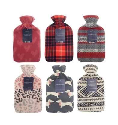 Picture of £3.99 HOT WATER BOTTLES COVERED 2L