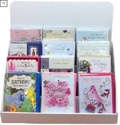 Picture of £0.99 ASSORTED GREETING CARD UNIT (72)