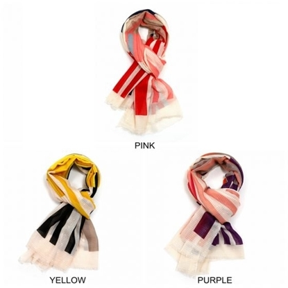 Picture of £3.99 STRIPED SCARVES 3 ASST
