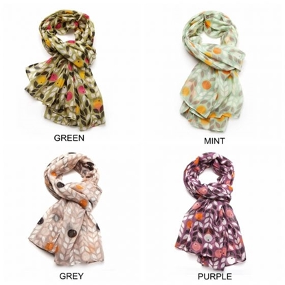 Picture of £8.99 BERRIES SCARVES 4 ASST