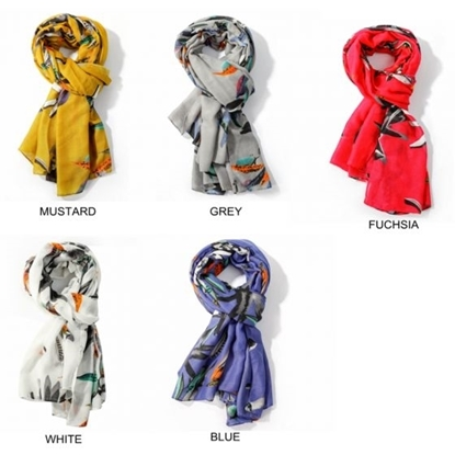 Picture of £8.99 FEATHER SCARVES 5 ASST