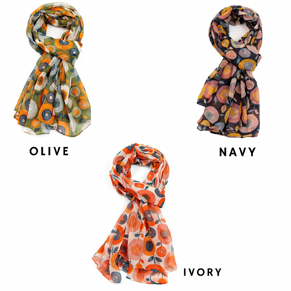 Picture of £9.99 IN BLOOM SCARVES 3 ASST