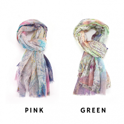 Picture of £9.99 ABSTRACT LACE SCARVES 2 ASST