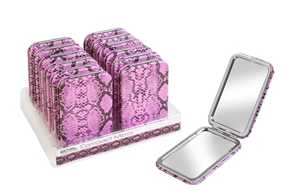 Picture of £2.99 SNAKESKIN MIRROR ROYAL