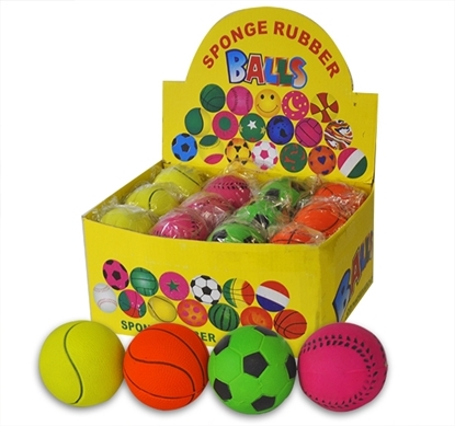 Picture of £1.00 SPORTS BALLS 4 ASST 6cm
