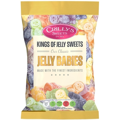 Picture of £1.00 CRILLYS JELLY BABIES 150g
