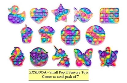 Picture of £2.49 POP IT BUBBLE SENSORY TOYS SML X7