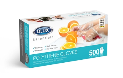 Picture of £5.00 DISPOSABLE POLYTHENE GLOVES X 500
