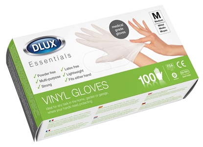 Picture of £6.00 DISPOSABLE VINYL GLOVES X100 MED.