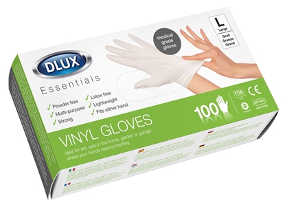Picture of £6.00 DISPOSABLE VINYL GLOVES X100 LGE.