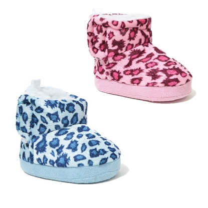 Picture of £3.99 VELOUR BABY BOOTS LEOPARD