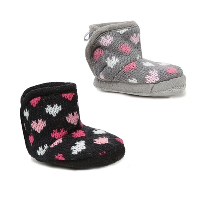 Picture of £2.99 KNITTED BABY BOOTS HEARTS