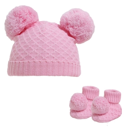 Picture of £7.99 BABY HAT & BOOTEE SET